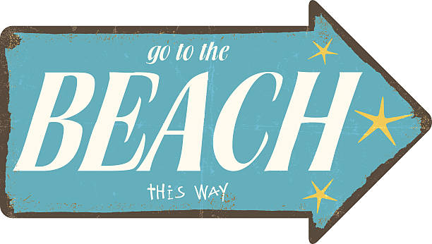 Beach Arrow Sign Illustrations, Royalty-Free Vector ...