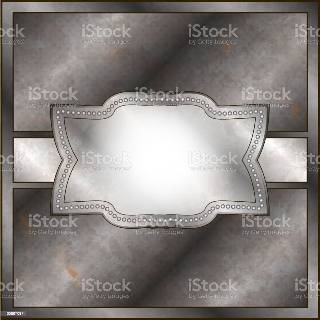Rusty metal frame royalty-free stock vector art