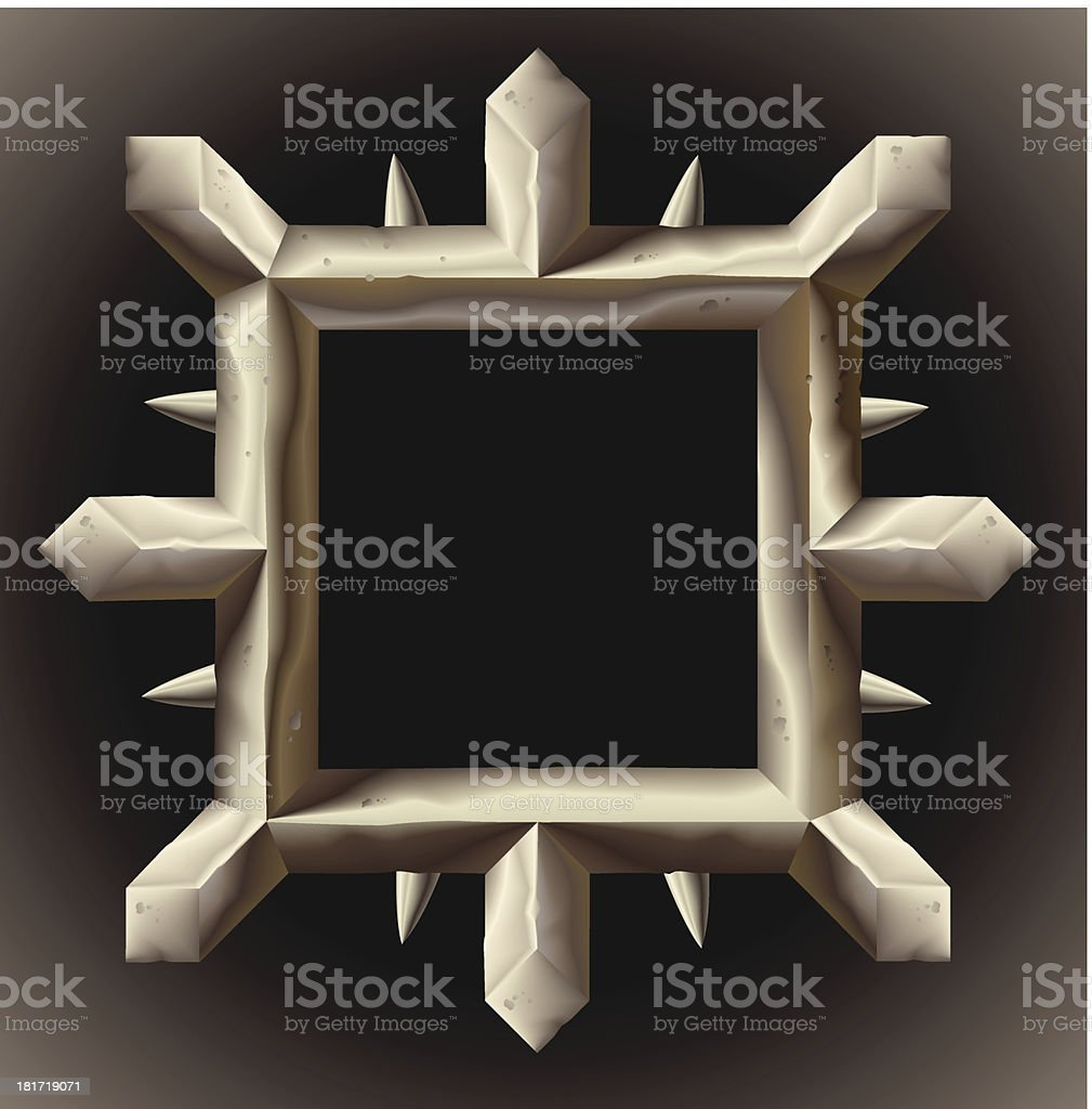 Rusty spiky metal frame border royalty-free rusty spiky metal frame border stock vector art & more images of antique