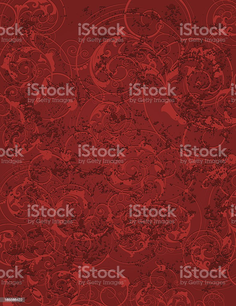 Rusty Spring Scroll Page royalty-free stock vector art