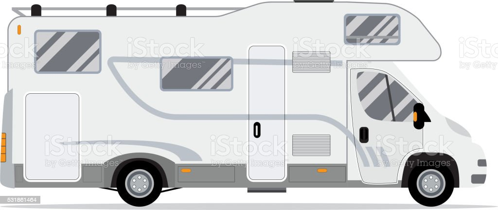 Rv Mobile Home Truck Royalty Free Stock Vector Art