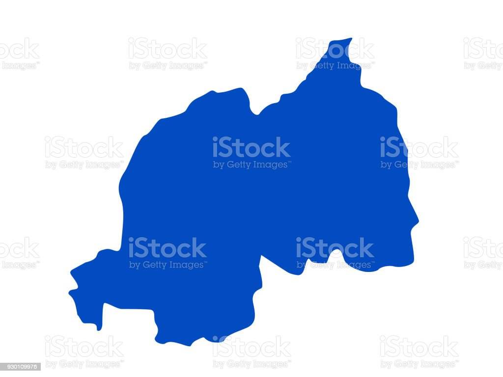 Rwanda Map Stock Vector Art More Images Of Africa 930109976 Istock