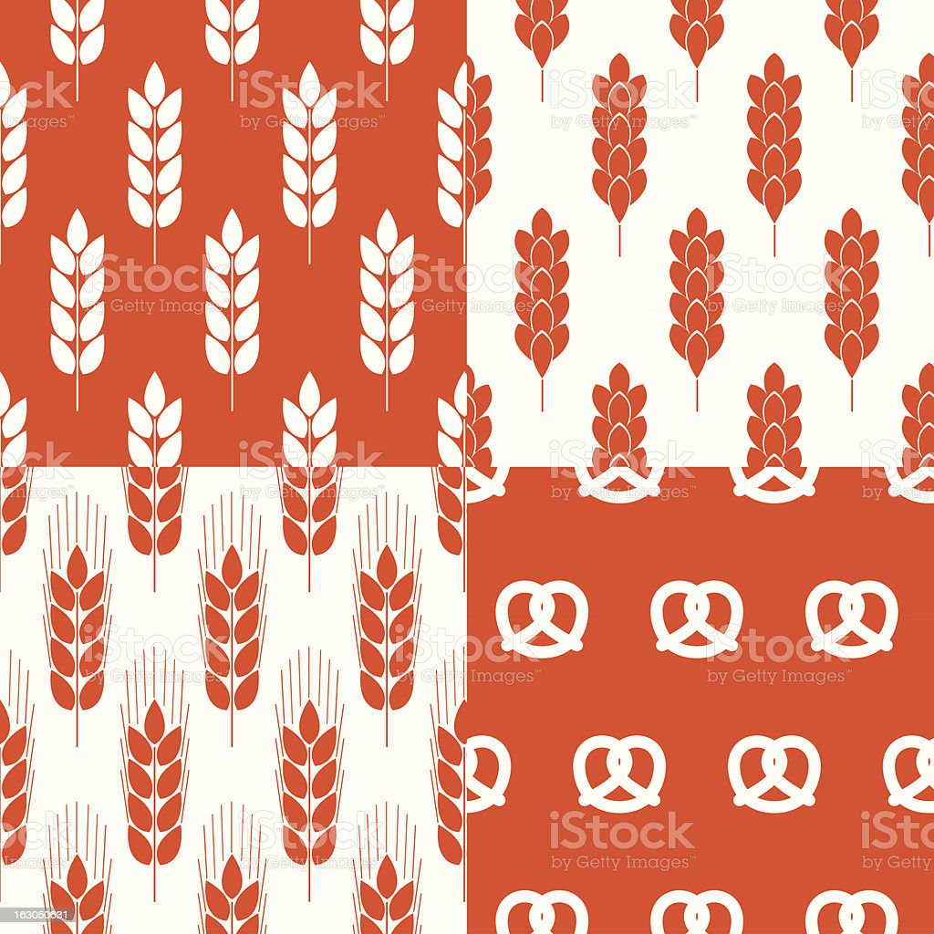 Rye vector patterns royalty-free rye vector patterns stock vector art & more images of agriculture