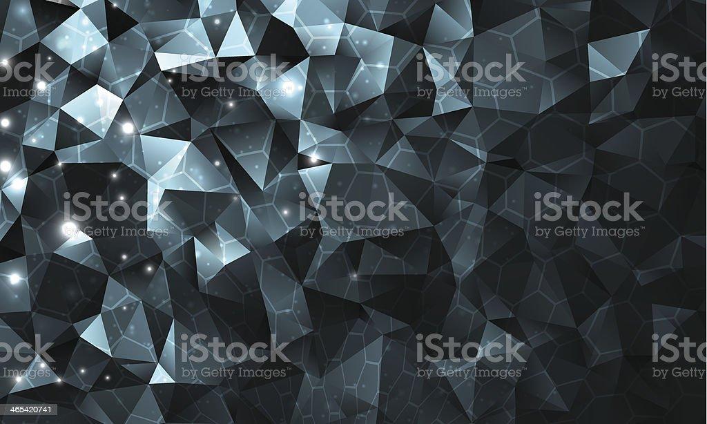 Сrystal composition vector art illustration