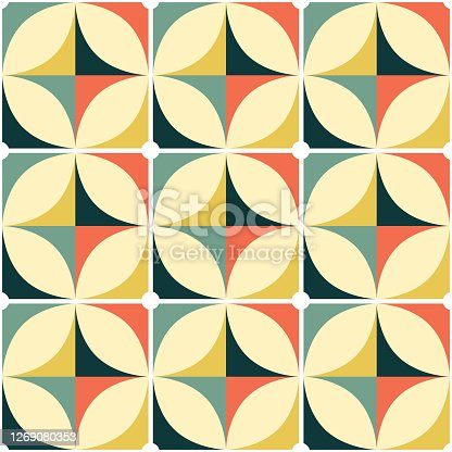 Simple minimalist wallpaper of textile background inspired by retro abstract patterns