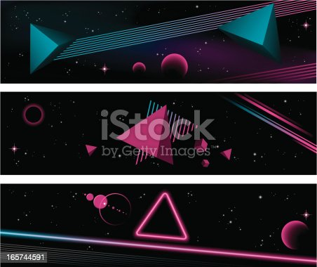 istock 80's banners 165744591