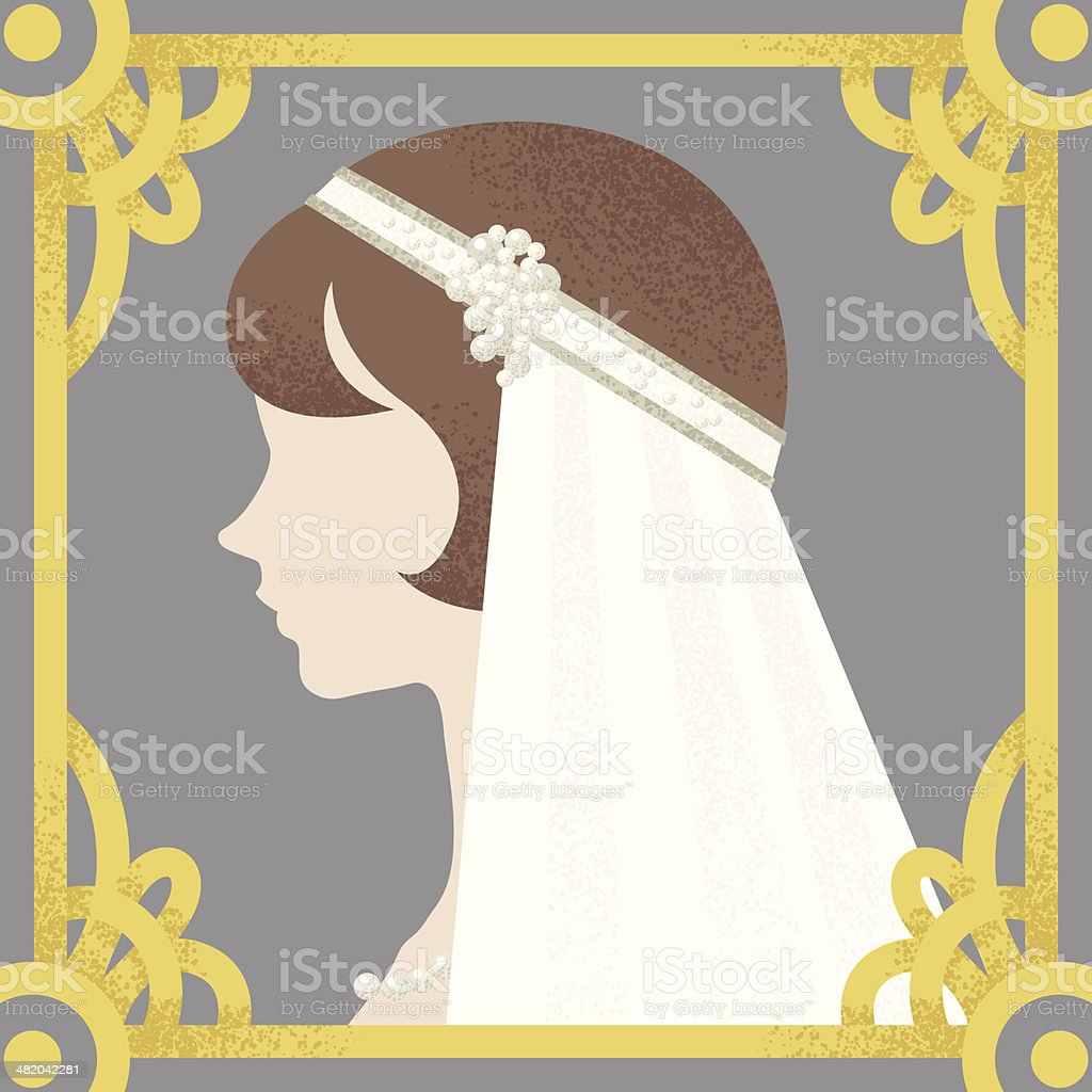 1920's bride royalty-free stock vector art