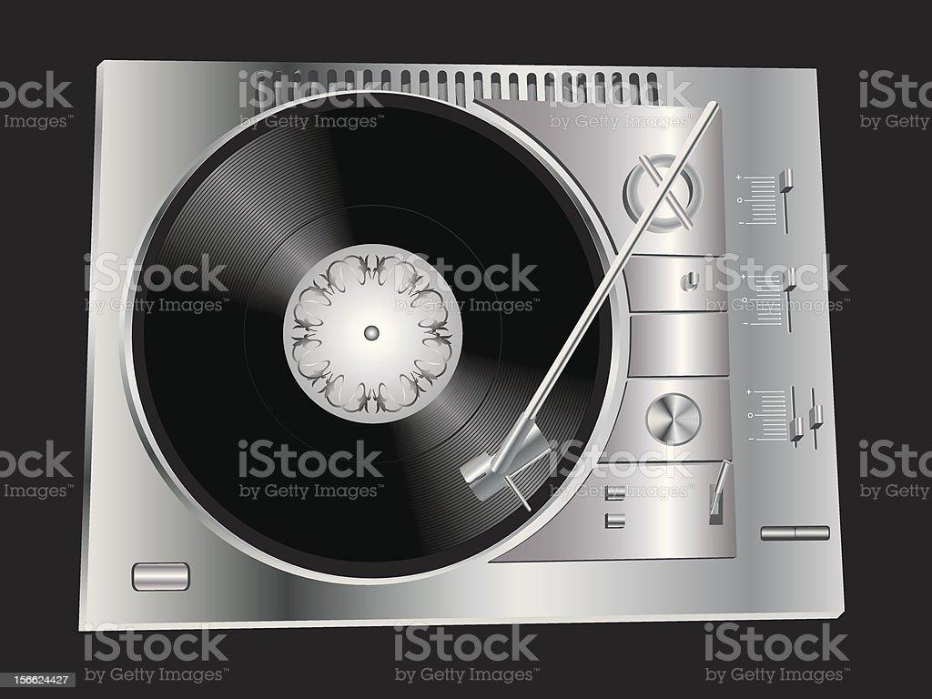 DJ's deck royalty-free stock vector art