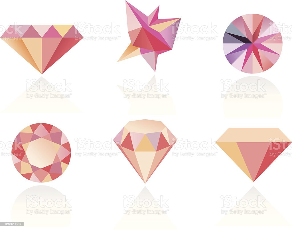 80's Diamonds vector art illustration