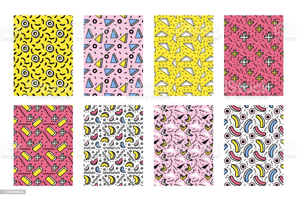 90s Geometric Pattern Stock Illustration - Download Image Now