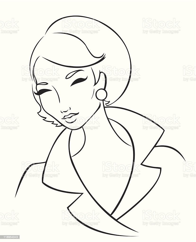 60's Lady royalty-free stock vector art