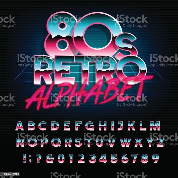S retro alphabet font type letters and numbers vector id836473580?b=1&k=6&m=836473580&s=612x612&h=epvrv5r3gequk atqeheozwgle8fmmkwp68mgk chf4=
