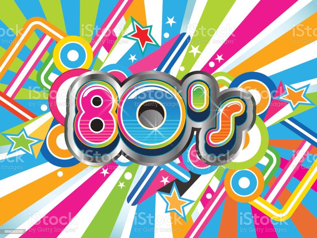 Download 80s Retro Background Life Style Vector Illustration Stock ...