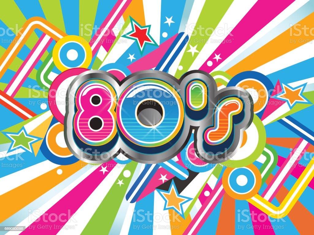 Estilo de vida de fondo Retro de los años 80. Ilustración de vector - ilustración de arte vectorial