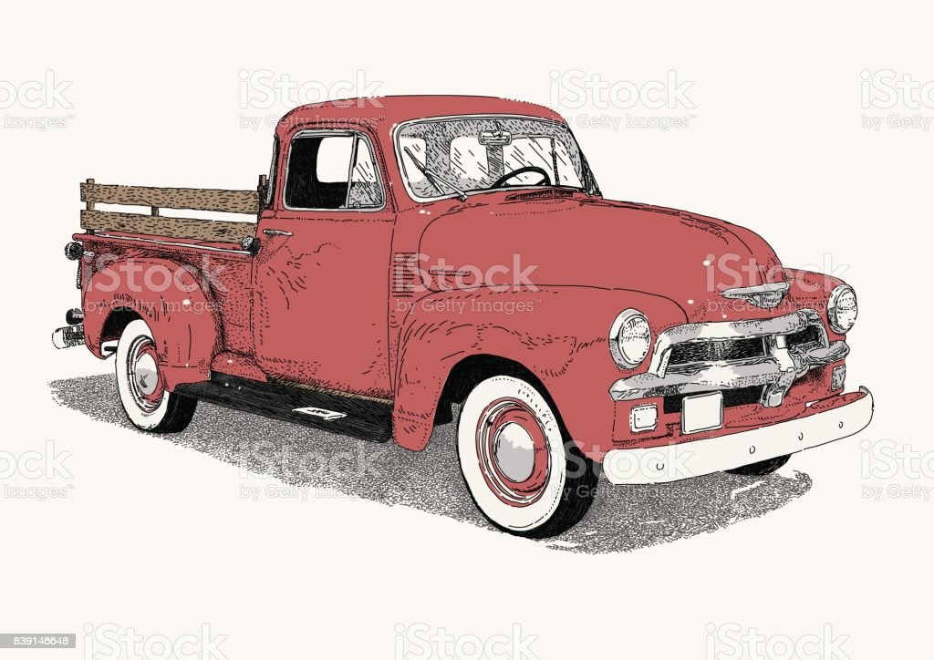 50's Truck vector art illustration