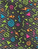 This is an 80's style background you can use on apparel, skateboards, helmet stickers, hover board graphics, you name it!