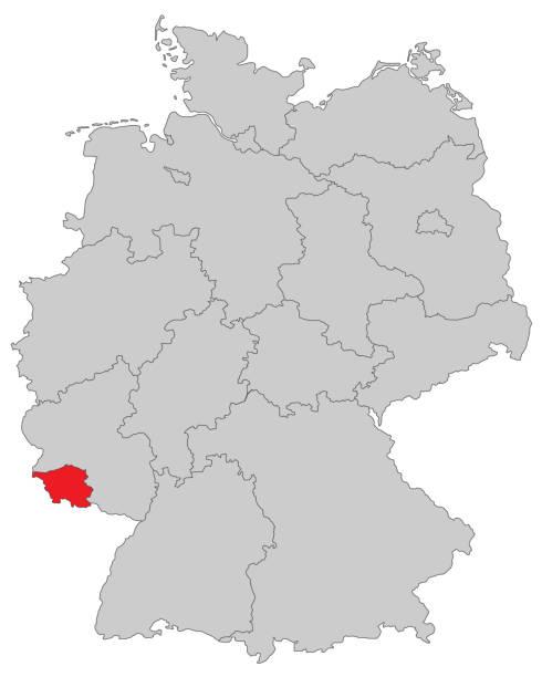 Saarland – Vektorgrafik