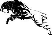 Isolated vector illustration of prehistoric animal artwork