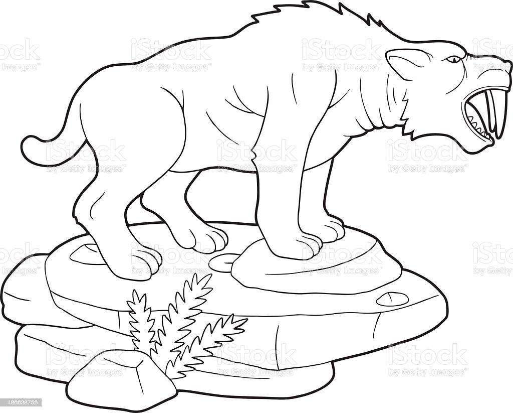 Ilustración de Dientes De Sable Tiger y más banco de imágenes de ...
