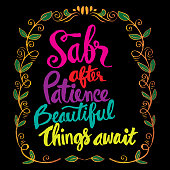 Sabr after patience beautiful things await. Islamic quran quotes
