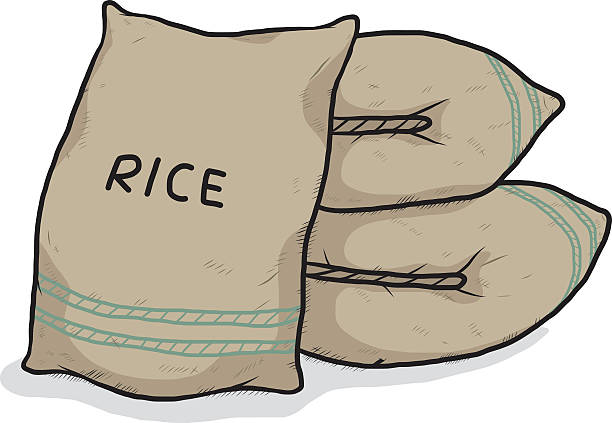 Royalty Free Rice Bag Clip Art, Vector Images ...