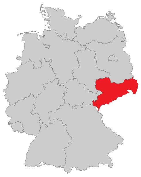 Sachsen – Vektorgrafik