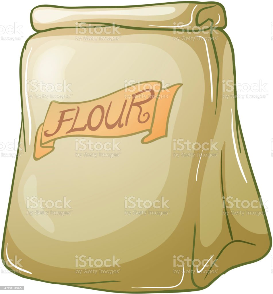 Sack of flour royalty-free stock vector art