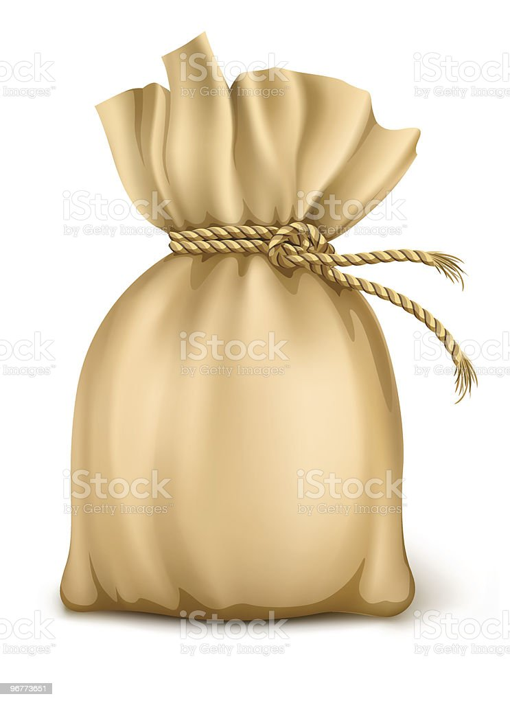 sack wired by rope isolated royalty-free stock vector art