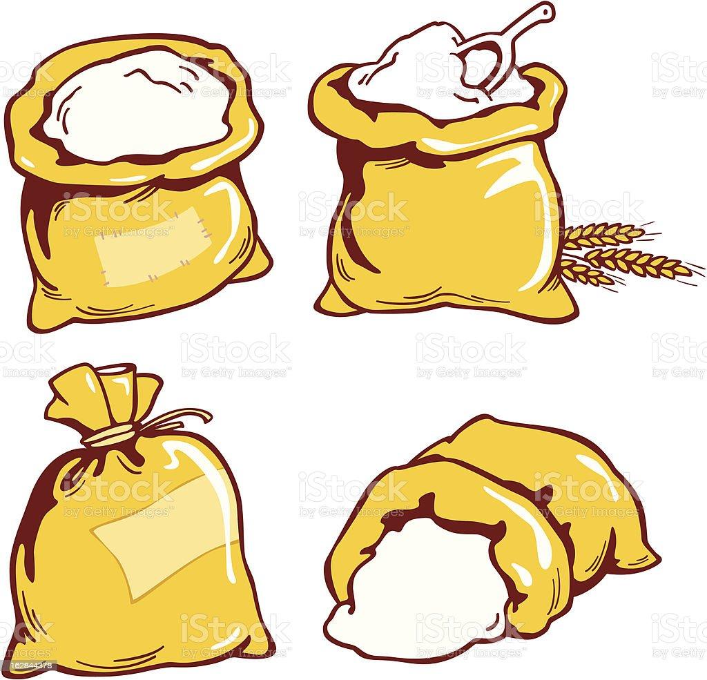 Sacks vector art illustration