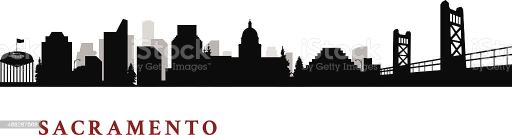 Sacramento California Cityscape vector art illustration