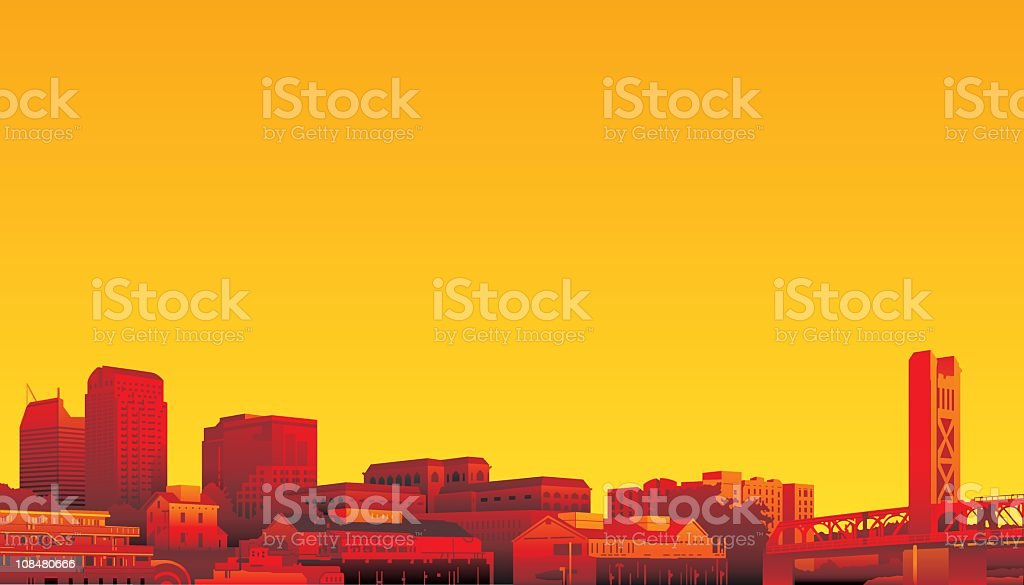 Sacramento, California vector art illustration