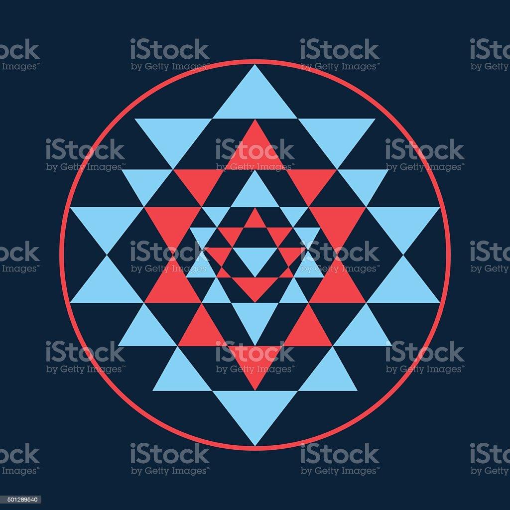 Sacred Geometry And Alchemy Symbol Sri Yantra Stock