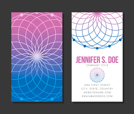 Sacred Geometry Business Card Template