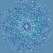 Sacred geometry cosmic mandala. Alchemy, religion, philosophy, astrology and spirituality themes