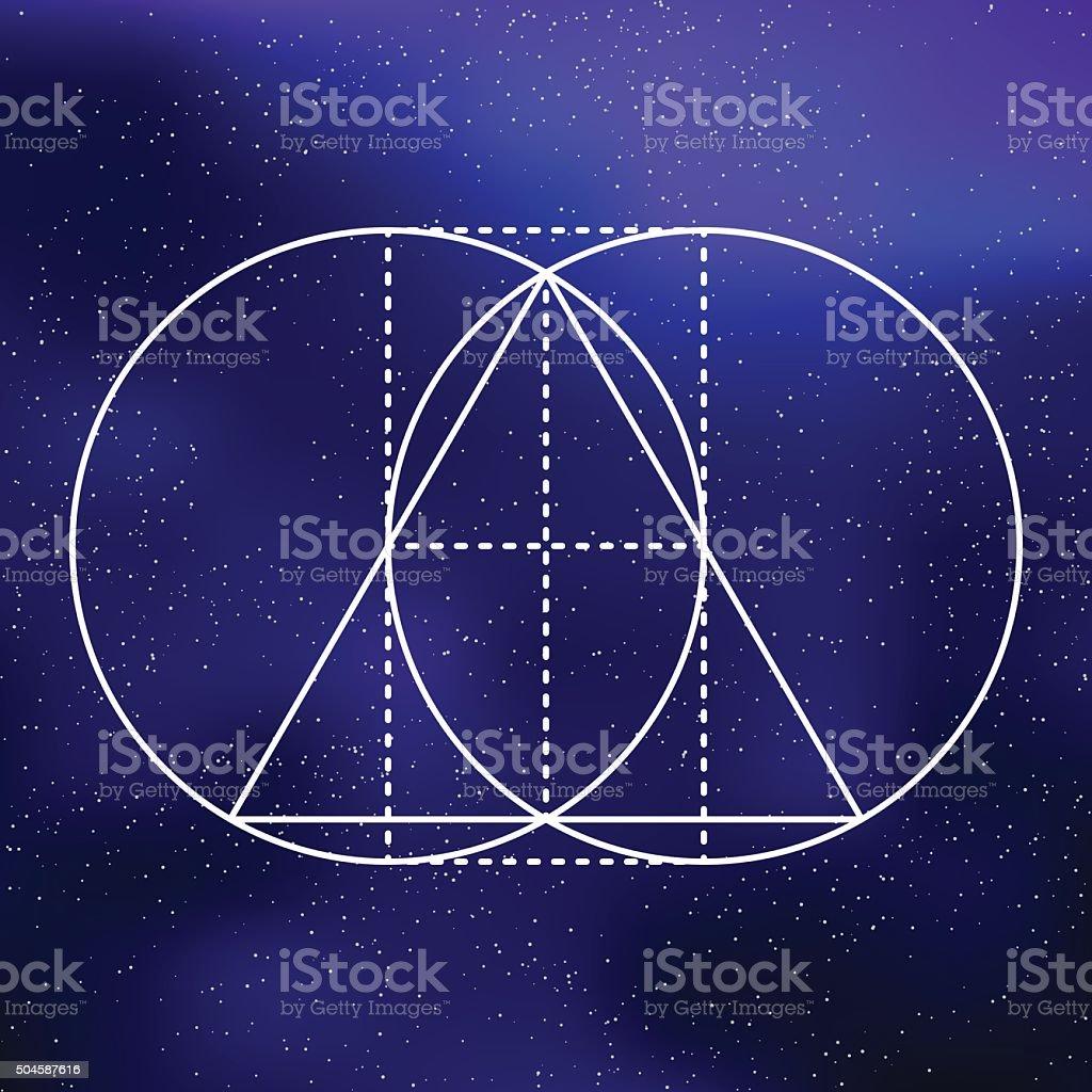 Ilustración de Geometría Sagrada Triángulo Equilátero Icono Sobre Un ...
