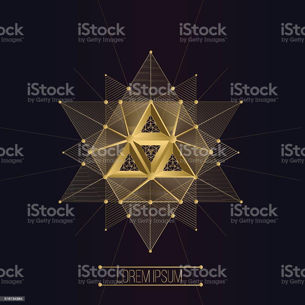 Sagrado geometria formas - ilustração de arte em vetor