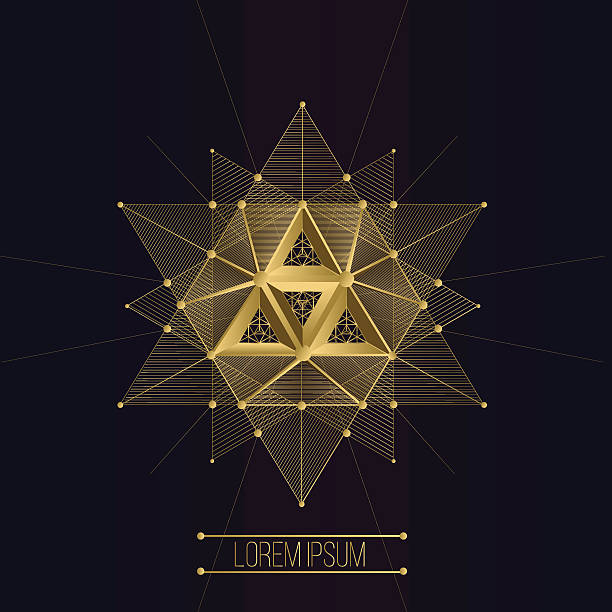 Sacred geometry forms vector art illustration