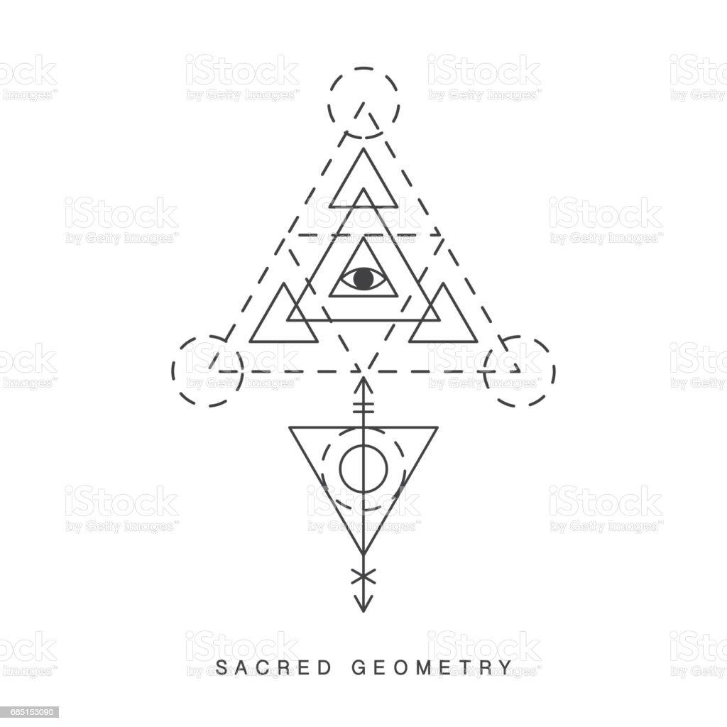 When Did Geometry Tattoos Start: Sacred Geometry Sign Tattoo Stock Illustration