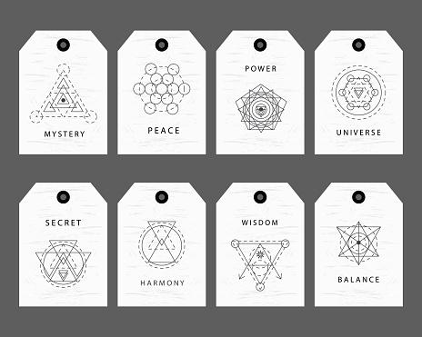 Sacred Geometry Signs Labels Set Stock Illustration - Download Image Now