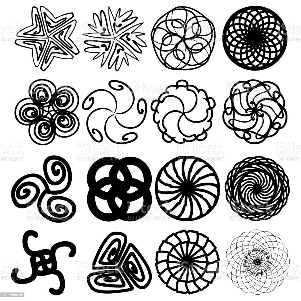 Sacred Geometry Signs Set Set Of Alchemy Religion Philosophy