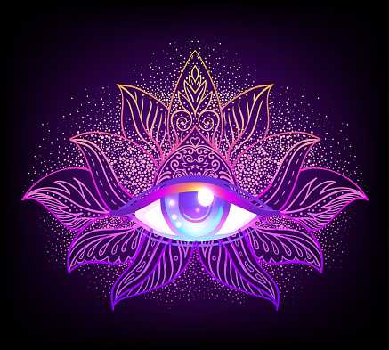 Sacred Geometry Symbol With All Seeing Eye Over In Acid ...