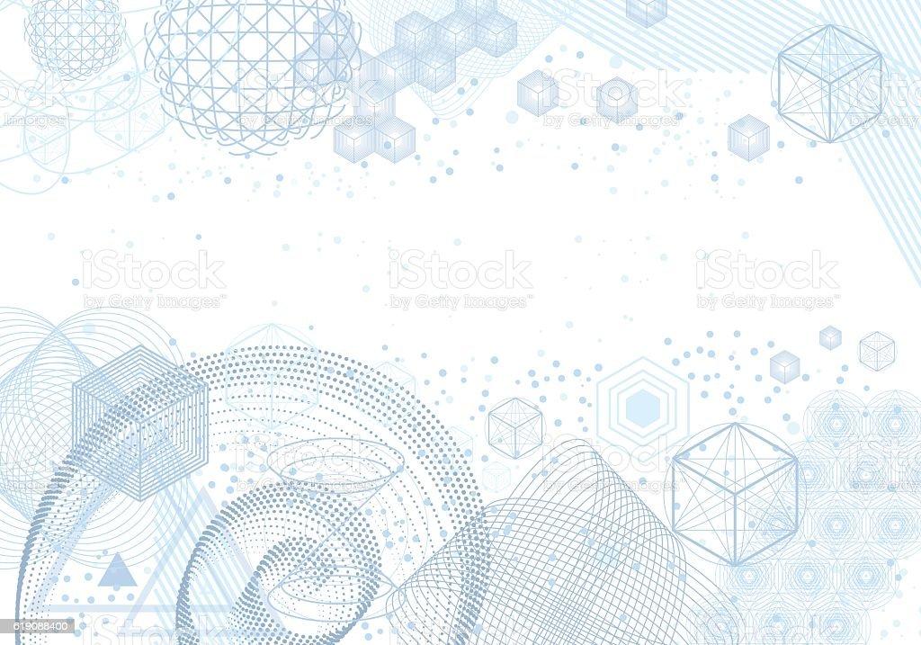 Geometría Sagrada símbolos y elementos de fondo - ilustración de arte vectorial