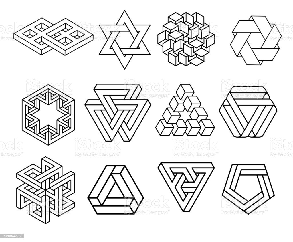 sacred geometry symbols collection stock vector art more images of