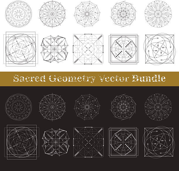 sacred geometry vector bundle - golden ratio 幅插畫檔、美工圖案、卡通及圖標