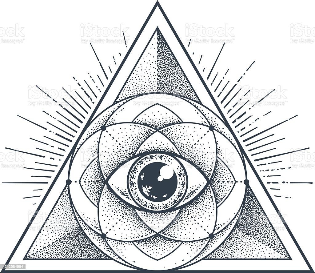 Geometria Sagrado - ilustração de arte em vetor