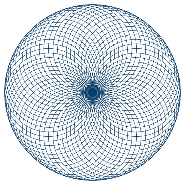 sacred geometry vector illustration: torus yantra, known as hypnotic eye. torus yantra is a basic element made by circles and seed or flower of life symbol. - третье око stock illustrations