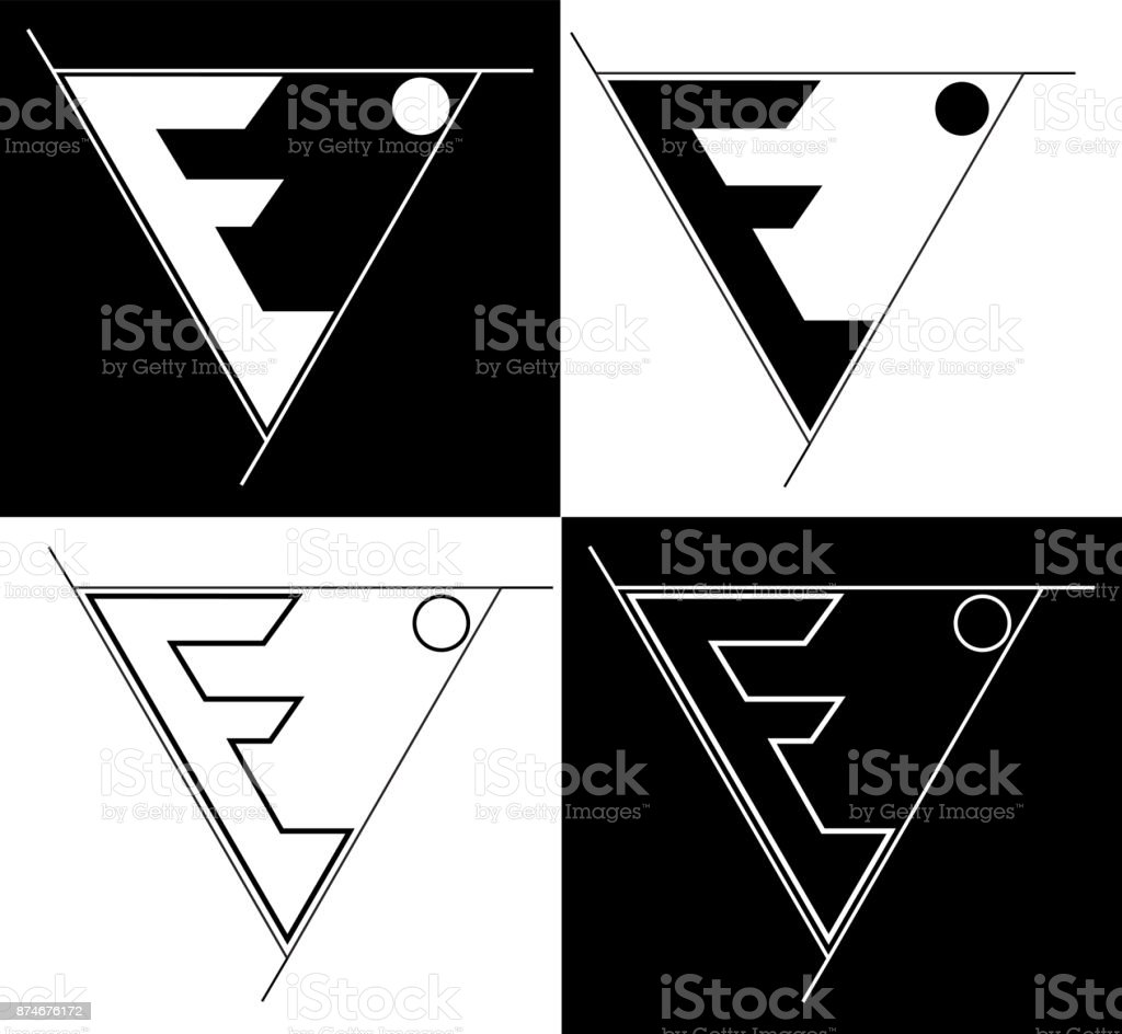 sacred geometry-earth letter E minimalist