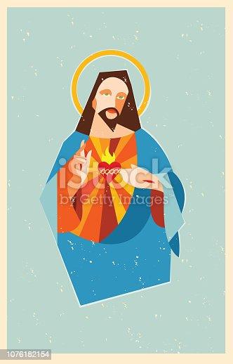 Representation of the Catholic religion, Jesus Christ. Sacred heart