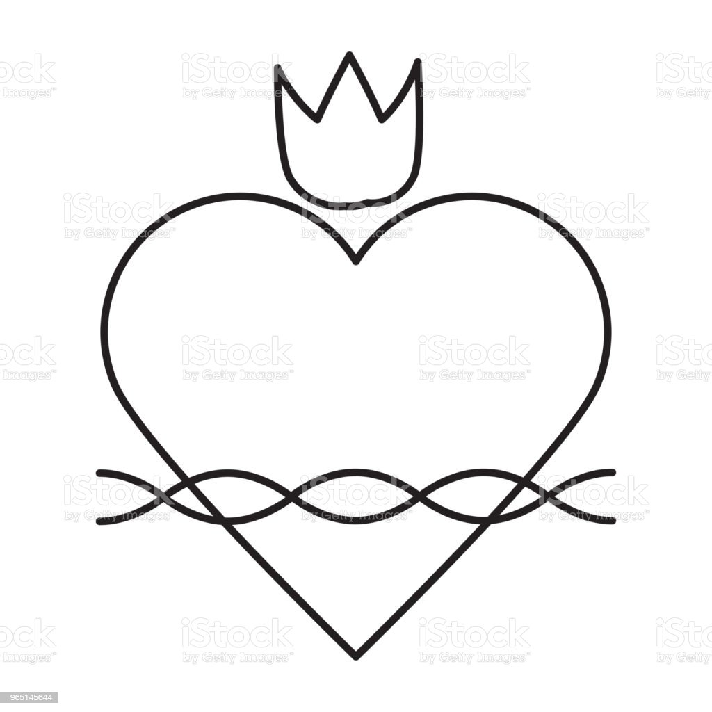 sacred heart line icon royalty-free sacred heart line icon stock vector art & more images of abstract