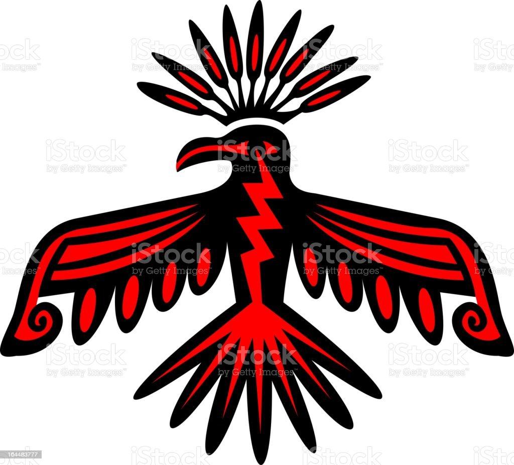 Vetores De Sagrada Thunderbirdamericana Nativa Simbolo De Poder